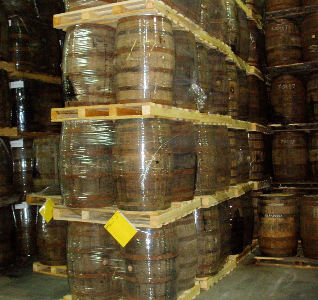 Whisky barrels At highwood Distillery