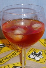 Rum Sloe And Sour with Ie