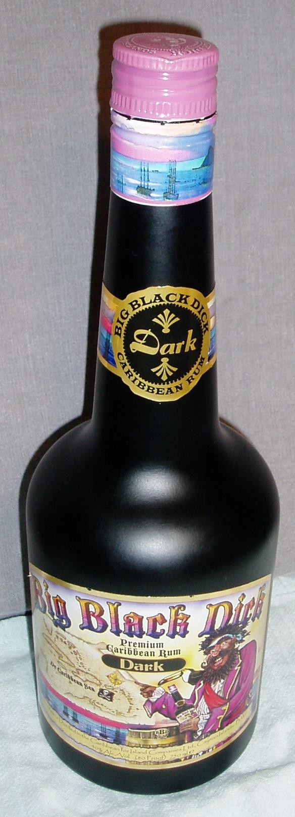 Big black dick alcohol