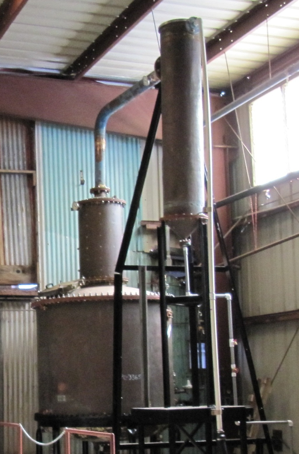 The  Koloa Rum Compaany 1210 gallon Copper Still (Photo courtesy Jeanne Toulon)