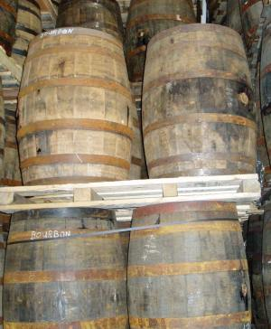 Photo of Barrels aging at Highwood Distillery