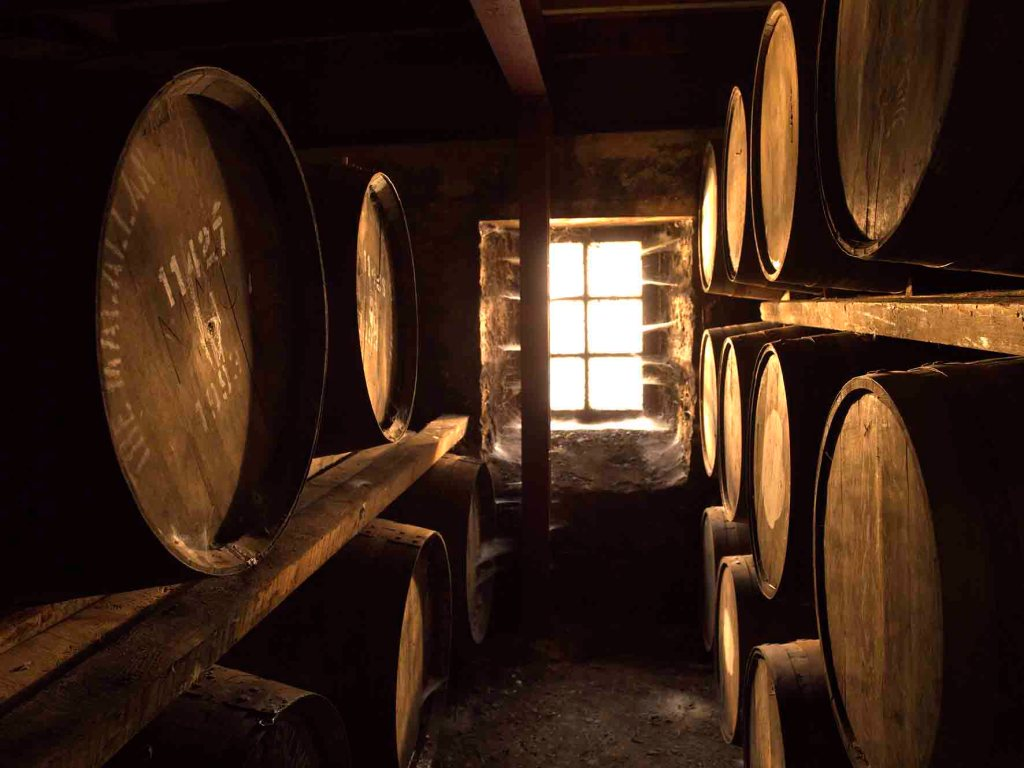 Aging Barrels in The Macallan Warehouse (Phot Courtesy L.J. Wheelock)