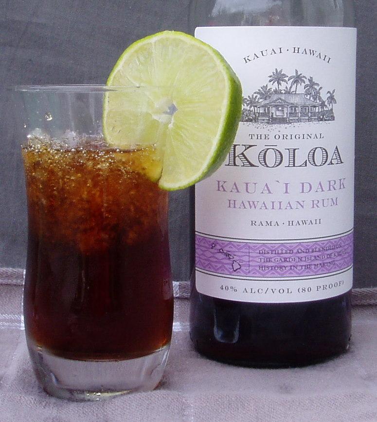Kaua`i Cola Cocktail