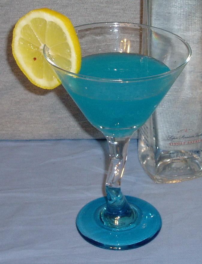 Blue Lemon Martini