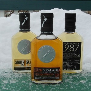 New Zealand Whisky on my Cold Snowy Deck!