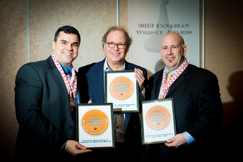 Corby Distillers Receives the prestigious Canadian Whisky Awards - 2013 Whisky of the Year Award!