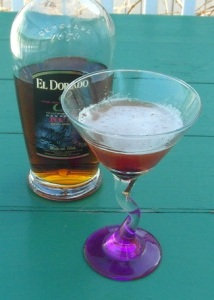 Rum Manhattan with El Dorado 8 Year Old Rum