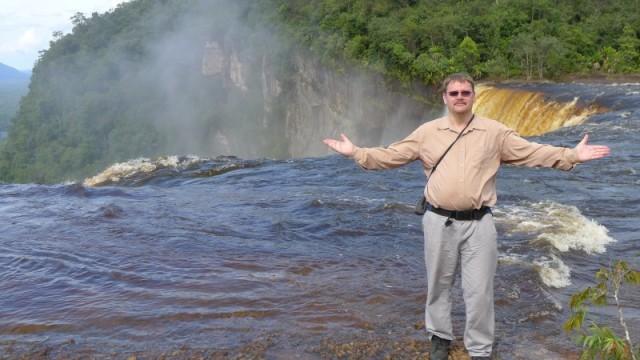 The Rumhowler at Kaieteur Falls, Guyana