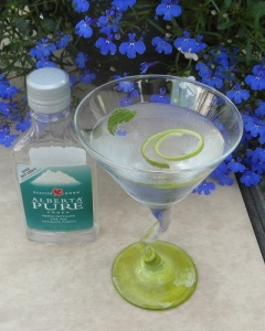 Alberta Pure Martini with mint and lime