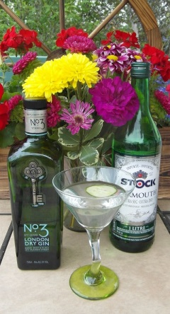 Traditional Gin Martini (cucumber garnish)