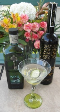 Reverse Vesper with Cucumber and Lemon