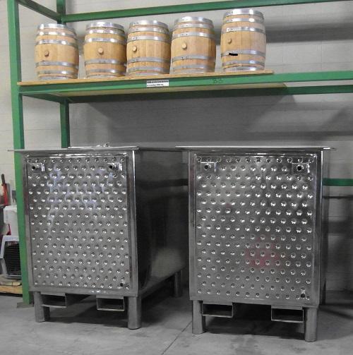 Fermentation tanks and Small 10 gallon Aging Barrels