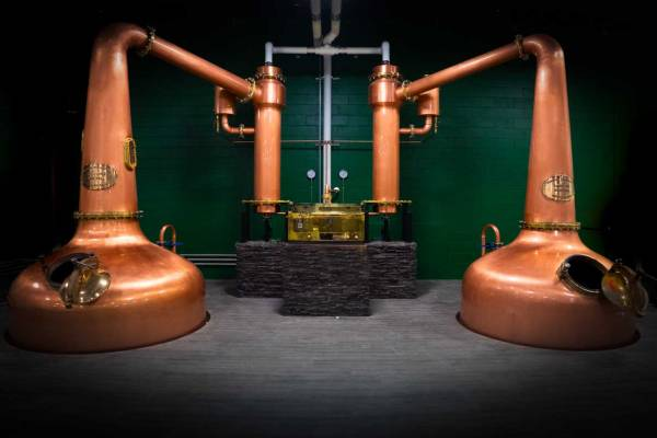 Twin Pot Stills at Victoria Caledonia Distillery and Brewery